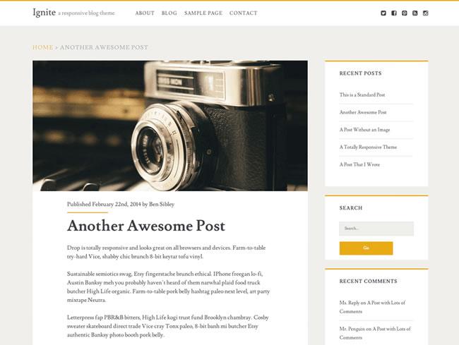 Si buscas temas gratis minimalista y limpio para wordpress