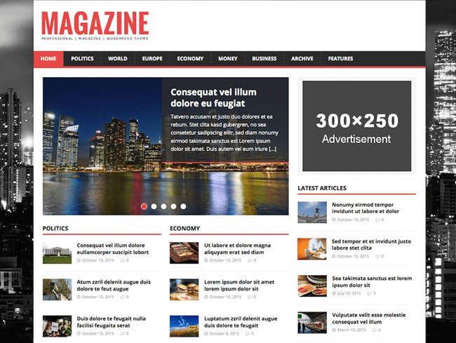 Temas para diarios, vblogs, revistas y noticias gratis wordpress