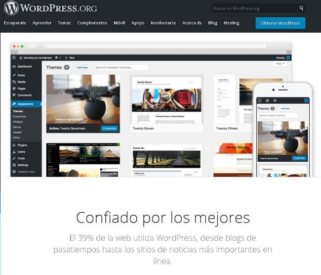 Iniciar cesión en WordPress.org