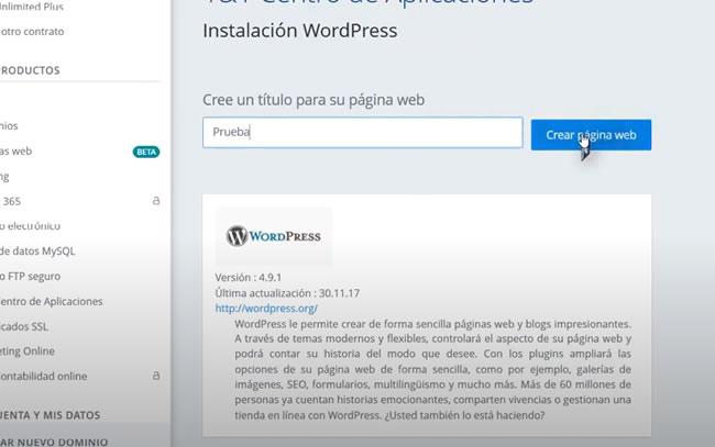 Cómo se instala WordPress en alojamiento IONOS 1and1
